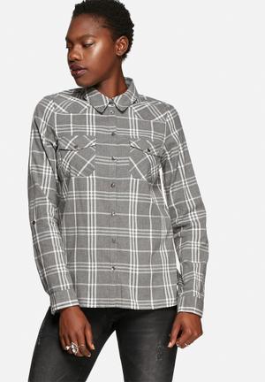 Noisy May Erik Shirt Grey