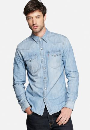 Levi's® Barstow Western Shirts Red Cast Stone