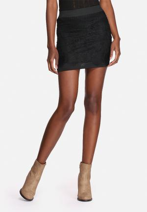 VILA Lasso Lace Skirt Black