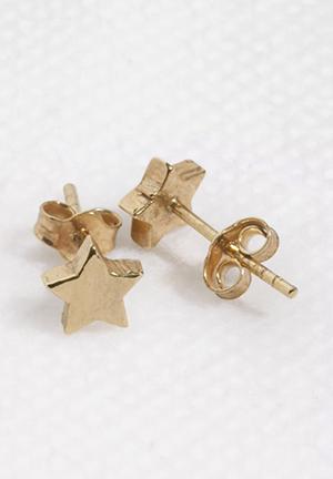 Bennt Single Star Earring Jewellery Gold