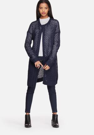 Noisy May Fast Knit Cardigan Knitwear Black Iris
