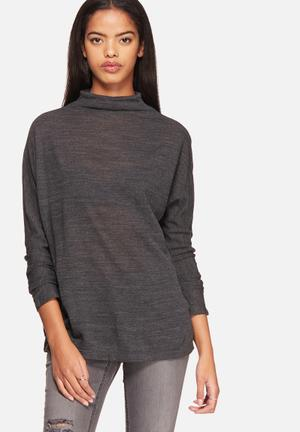 ONLY Emma Planet Top Blouses Dark Grey