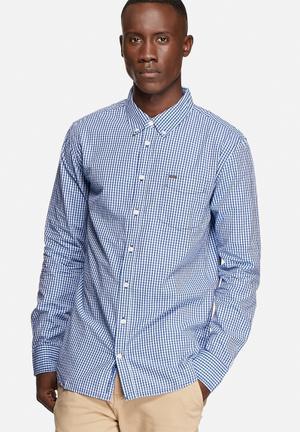 GUESS Shepley Gingham Shirt Evening Blue