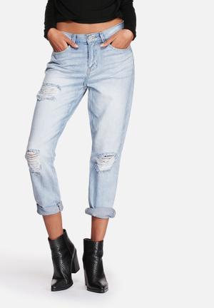 ONLY Lima Boyfriend Jeans Light Blue Denim