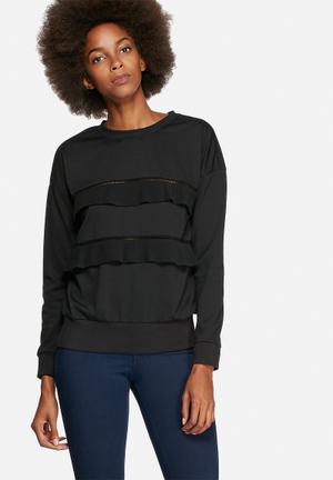 Vero Moda Tina Pleat Top Blouses Black