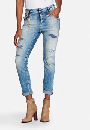 ONLY Lise Antifit Denim Jeans Light Blue Denim