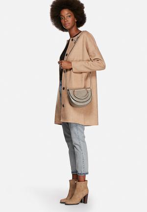 Nila Anthony Abby Half Moon Sling Bags & Purses Grey