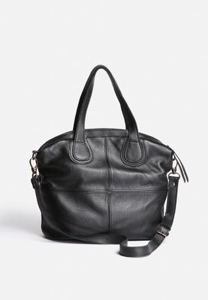 FSP Collection Katie Leather Tote Bags & Purses Black