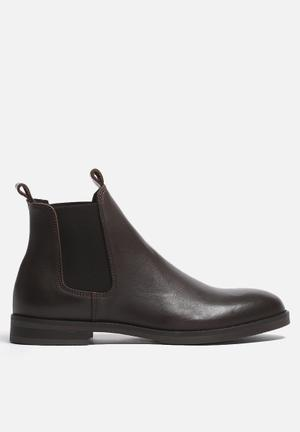 Selected Homme Marc Leather Boot  Brown