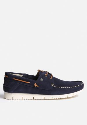 Jack & Jones Larco Suede Casual Shoe Slip-ons And Loafers Navy