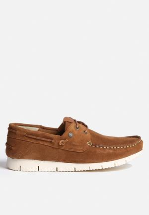 Jack & Jones Larco Suede Casual Shoe Slip-ons And Loafers Cognac