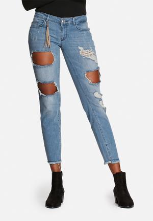 ONLY Julie Slim Ankle Jeans Medium Blue Denim