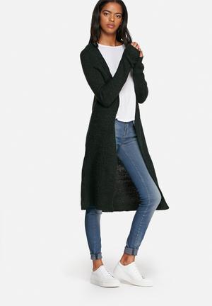 ONLY New Hayley Longline Cardigan Knitwear Dark Green