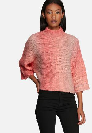 Gradient highneck knit
