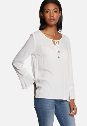 ONLY Taffy Bell-sleeve Top Blouses White