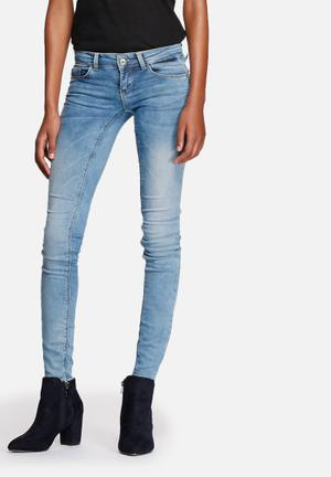 ONLY Coral Skinny Jeans Medium Blue