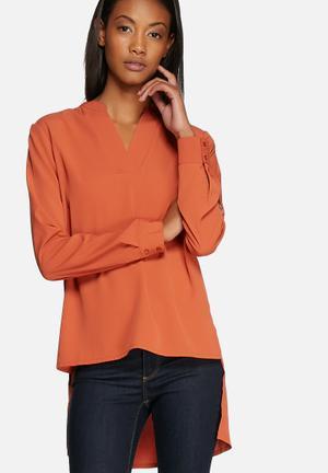 Vero Moda Maya Top Blouses Orange