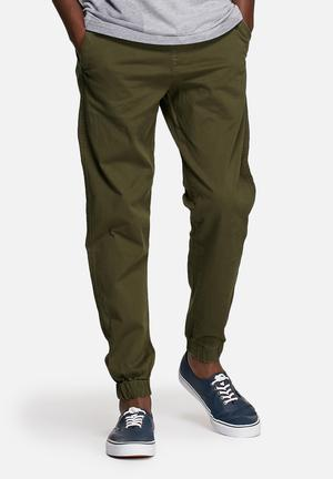 Jack & Jones Jeans Intelligence Vega Vince Cuffed Pants Olive