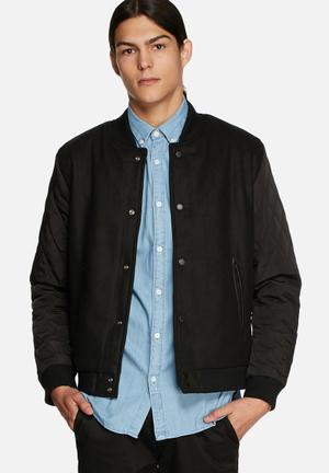 Native Youth Quilted Baseball Jackets Black