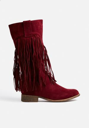 Liliana Gordon Boots Burgundy