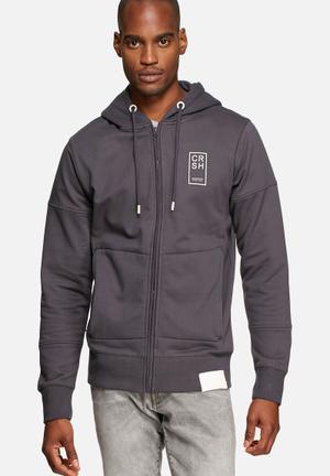 Crosshatch Lankton Hoodie Hoodies & Sweatshirts Charcoal / Navy