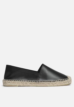 Vero Moda Lani Leather Espadrille Pumps & Flats Black