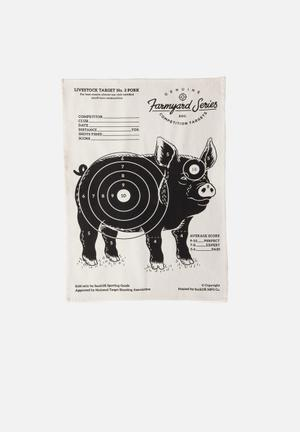 Suck UK Target Tea Towel Pork Kitchen Accessories 100% Cotton
