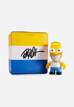 Kidrobot The Simpsons: Homer Grin By Ron English Mini Figure Toys & LEGO Vinyl