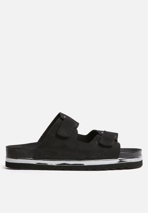 Vero Moda Jane Leather Sandal Black