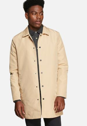 Only & Sons Matthias Trench Coat Taupe