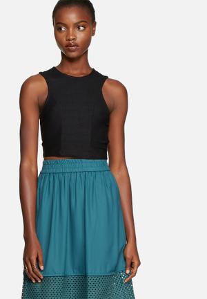 Vero Moda Lauren Crop Top T-Shirts, Vests & Camis Black