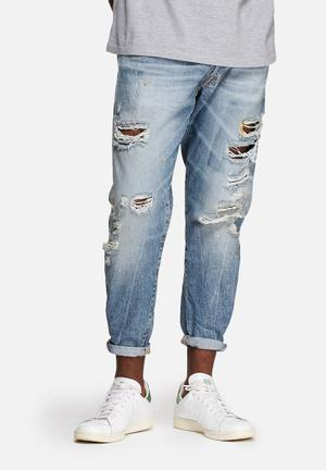 Jack & Jones Jeans Intelligence Cropped Jeans  Blue Denim