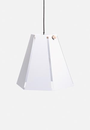 Emerging Creatives Hex Lamp Lighting Mild Steel, Powder Coated