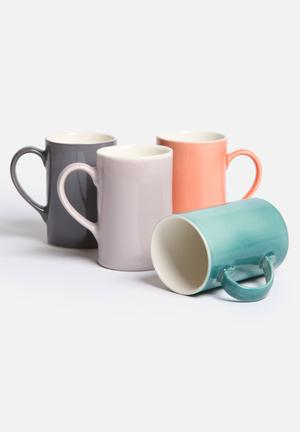 Urchin Art Heirloom Set Of 4 Mugs Ceramic