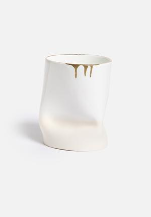 Urchin Art Dipped Crunchy Vase Accessories Ceramic
