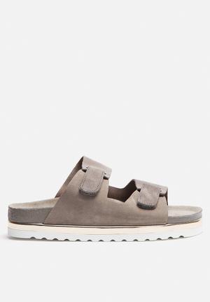 Vero Moda Jane Leather Sandal Grey