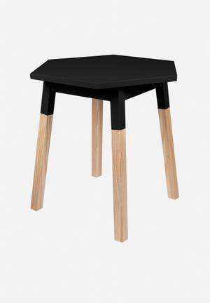 Illumina Hexagon Side Table Black