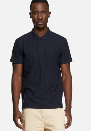 Basicthread Regular Fit Polo T-Shirts & Vests Navy