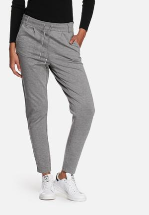 ONLY Poptrash Easy Colour Pants Trousers Grey Melange