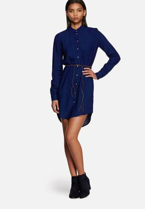 ONLY Rush Shirt Dress Casual Blue