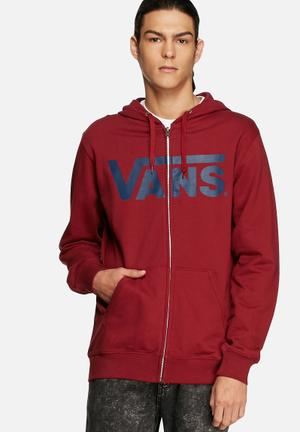 Vans Classic Zip Hoodie Hoodies & Sweatshirts Red