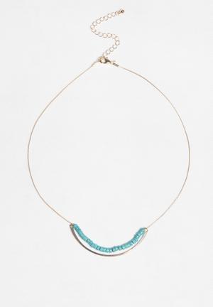 Glamorous Curve Necklace Jewellery Turqoise