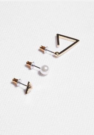 Glamorous Earring Set Jewellery Light Gold