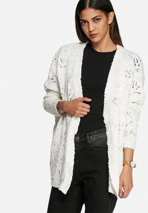 VILA Drops Knit Cardigan Knitwear Cream