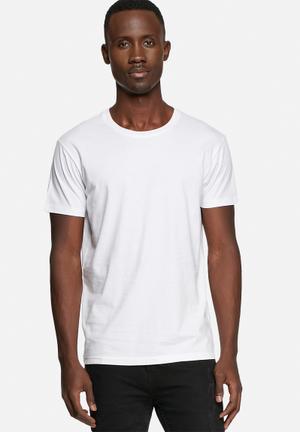 Basicthread Basic Crew Tee T-Shirts & Vests White
