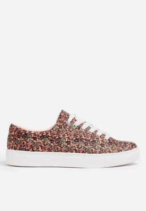 Vero Moda Smilla Sneaker Coral, Green & Blue