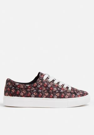 Vero Moda Smilla Sneaker Black, Red & Peach