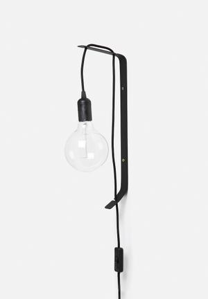 Sixth Floor Wall Mounted Flexi Lamp Lighting Black