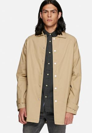 Native Youth Dylan Trench Coat Sand