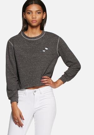 Dailyfriday Badge Sweat T-Shirts, Vests & Camis Grey